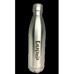 Botella térmica personalizada, acero brillante