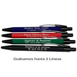 Bolígrafos personalizados de metal con suave tacto de caucho