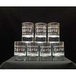 Vasos chupito personalizados con texto y dibujo