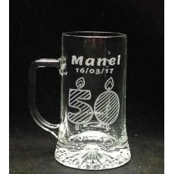 Jarra Cerveza Personalizada con texto y dibujo