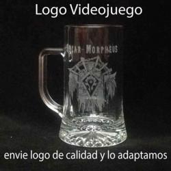 Jarra Cerveza 500 cc grabada con texto y dibujo