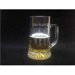 Jarra Cerveza  grabada con texto y escudo de futbol