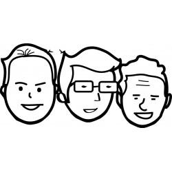 Dibujo de caras para el grabado láser